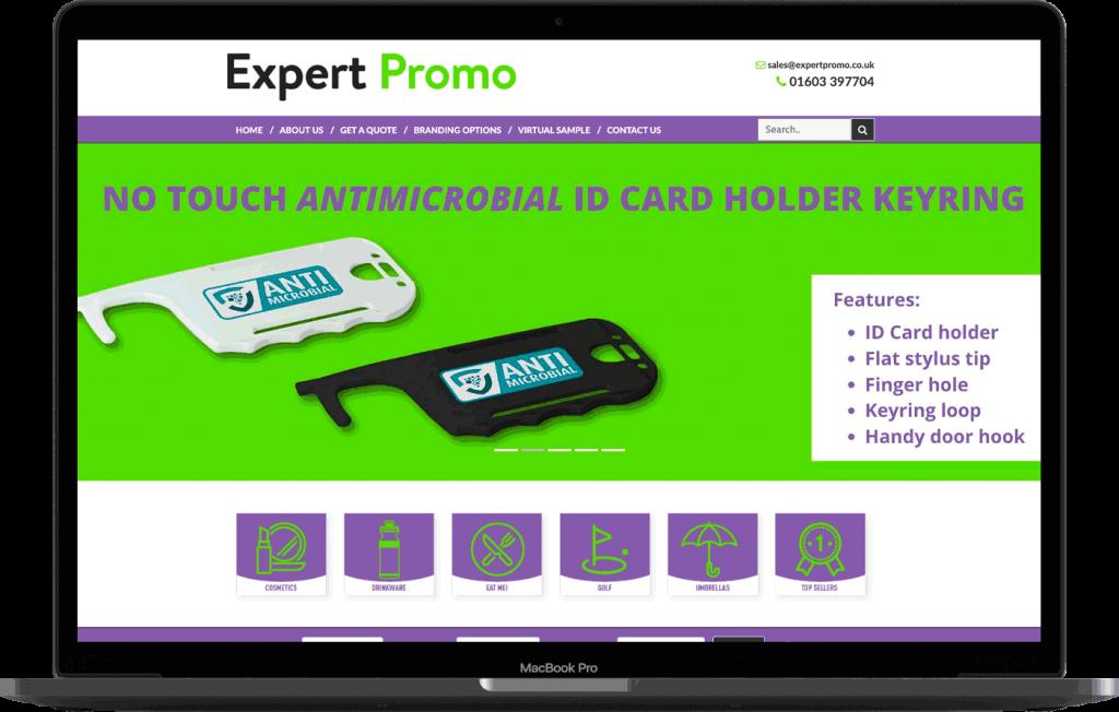 Expert Promo Website In Laptop
